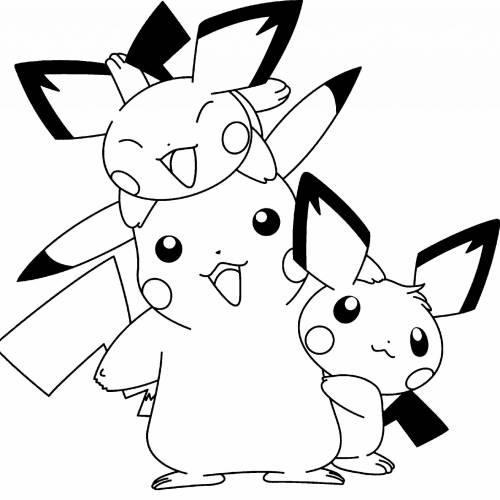 Pikachu family kawaii min
