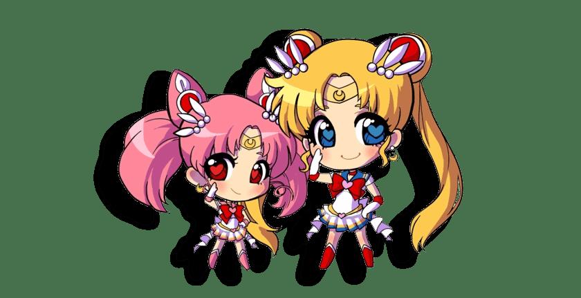Sailor Moon Kawaii chibi dibujos personajes kawaii