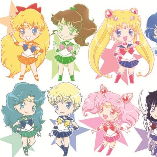 Sailor Moon Team Chibi Kawaii