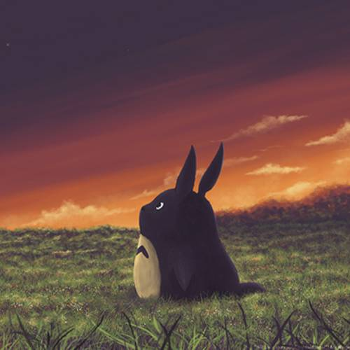 Totoro Anochecer kawaii min
