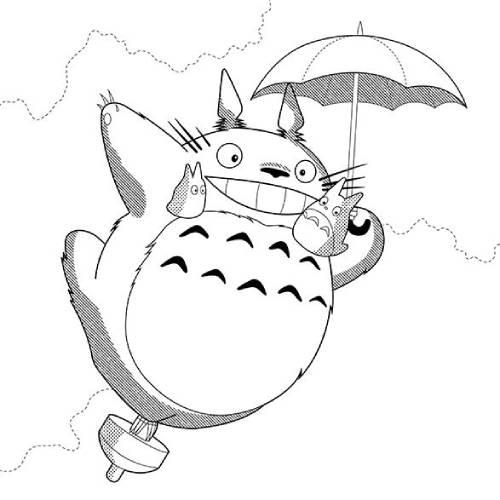 Totoro volando