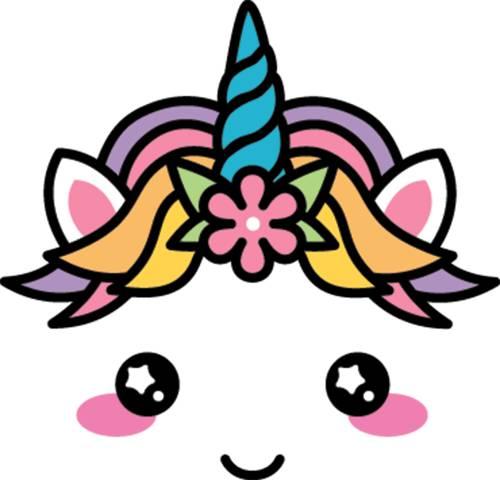 cara unicornio kawaii
