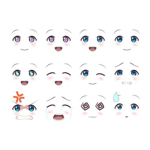 anime kawaii emojii