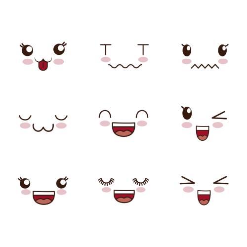 dibujos kawaii emoji
