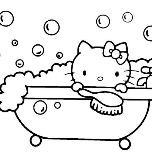 hello kitty bañera kawaii