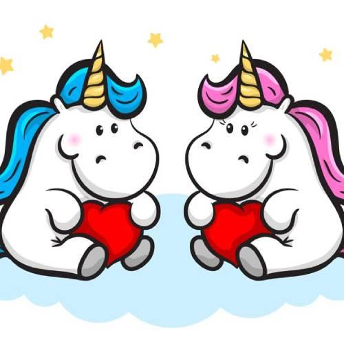 corazon kawaii unicornio