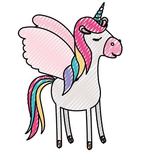 cartoon draw kawaii unicornio