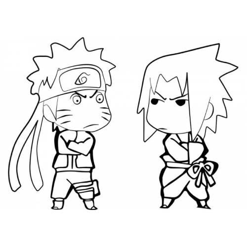 Sasuke Naruto angry kawaii