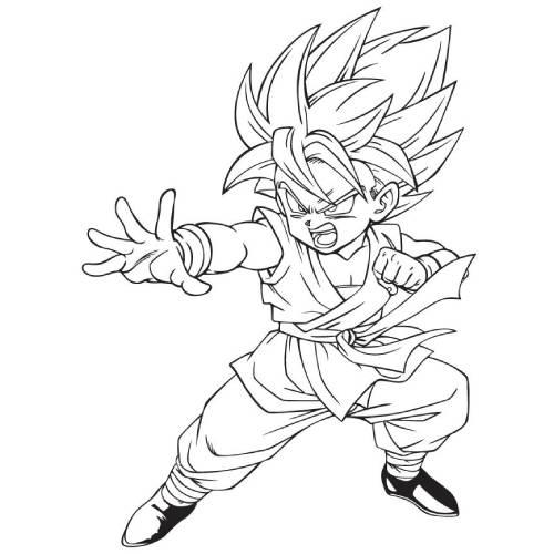 Son Goku Chibi Ataque